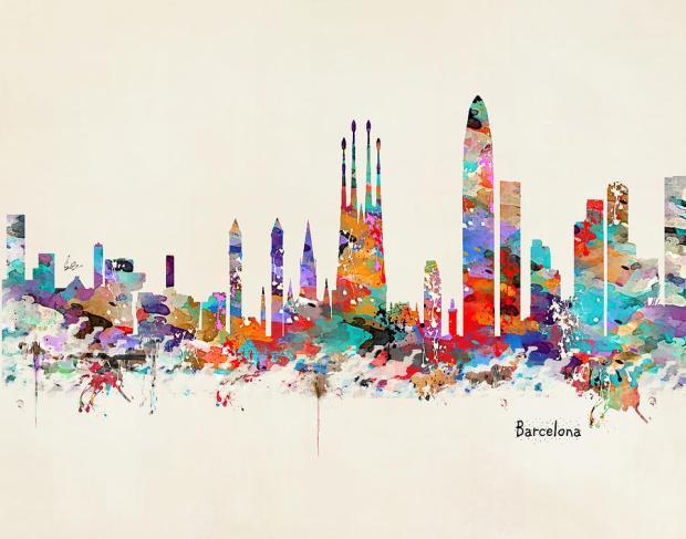 barcelona-city-acuarela